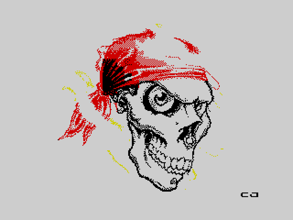 "Scull (gameover screen from ""Кощеева цепь"")"