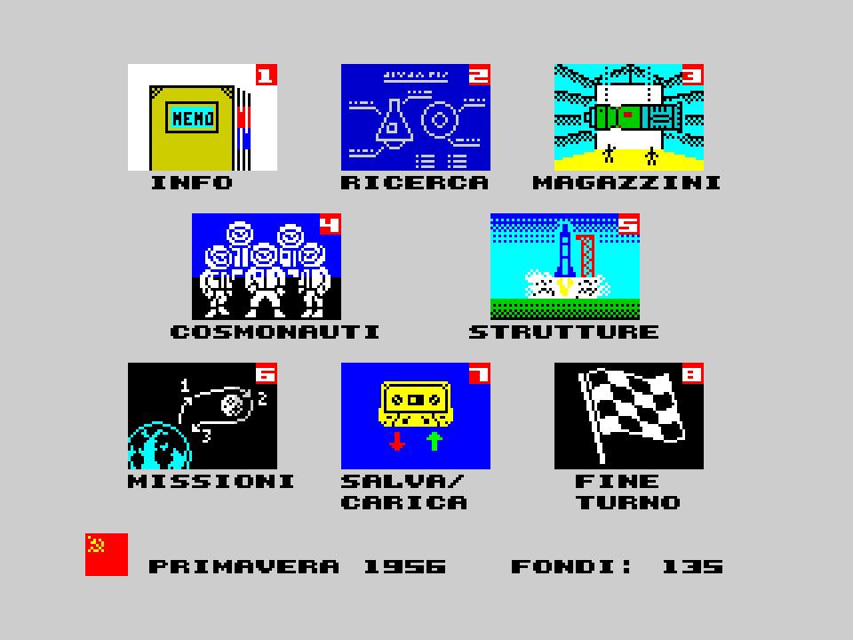 Ad Lunam Plus main menu (USSR, Italian)