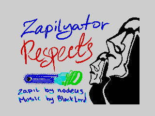 Zapilyator respects tittle screen (Zapilyator respects tittle screen)