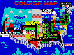 Turbo Out Run usa map