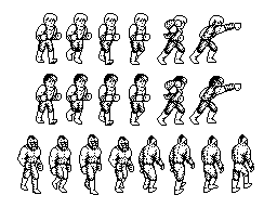 Billy and Jimmy Lee/Abobo spritesheet 1