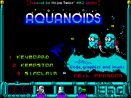 Aquanoids Videogame - Title screen