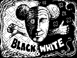 Black and white man