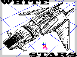White stars spaceship