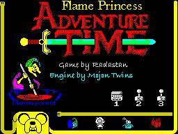 Flame Princess Adventure Time - menu
