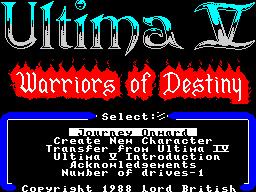 Ultima V - Concept 1