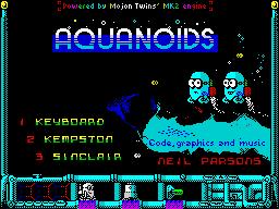 Aquanoids Videogame - Title screen