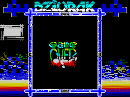 Dziurak Deluxe game over